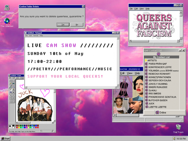 Affisch för Cam ShOw - Support your local queers! Av: Queers Against Fascism