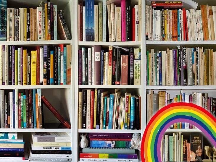 Böcker ur QRABs samling.